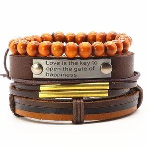 Other - 4pcs/set Vintage Handmade Beads Men's Bracelet